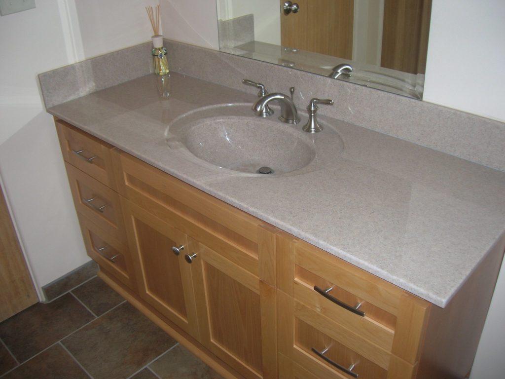 Cultured Granite California Sand Vanity Top