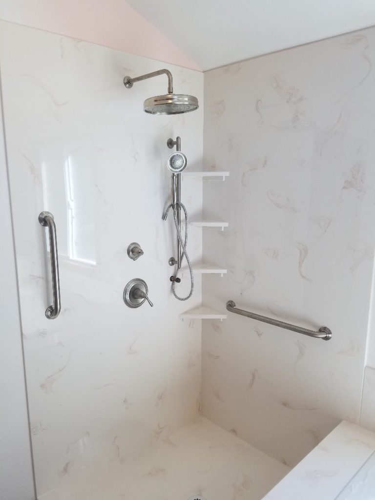 Cultured Marble Sandstone Shower