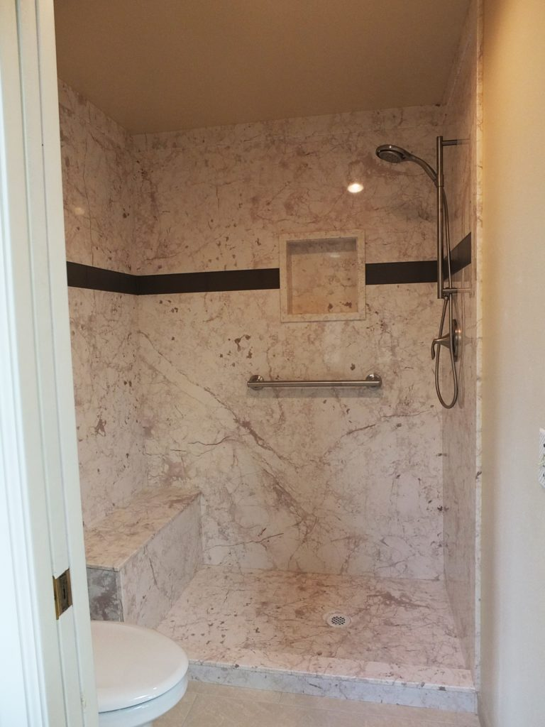 TruStone Botticino Cream Shower