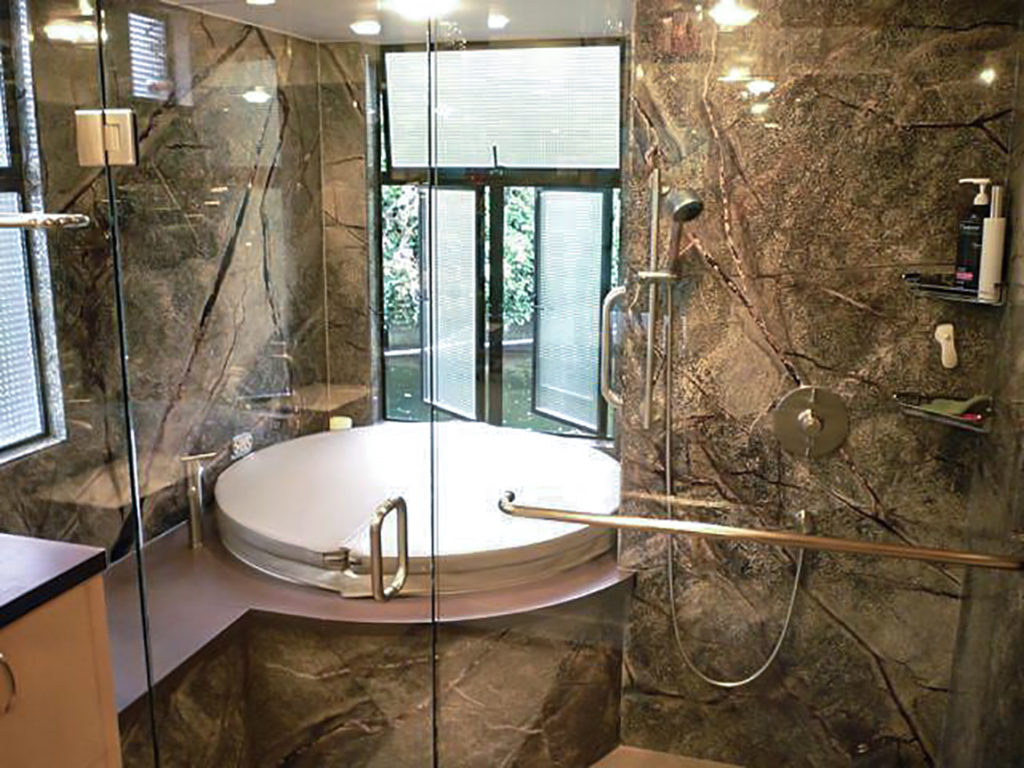 TruStone Rainforest Green Shower-Tub Area